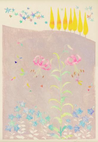 沙羅 木版画原画展 「森の中の扉」_a0260022_22030865.jpg