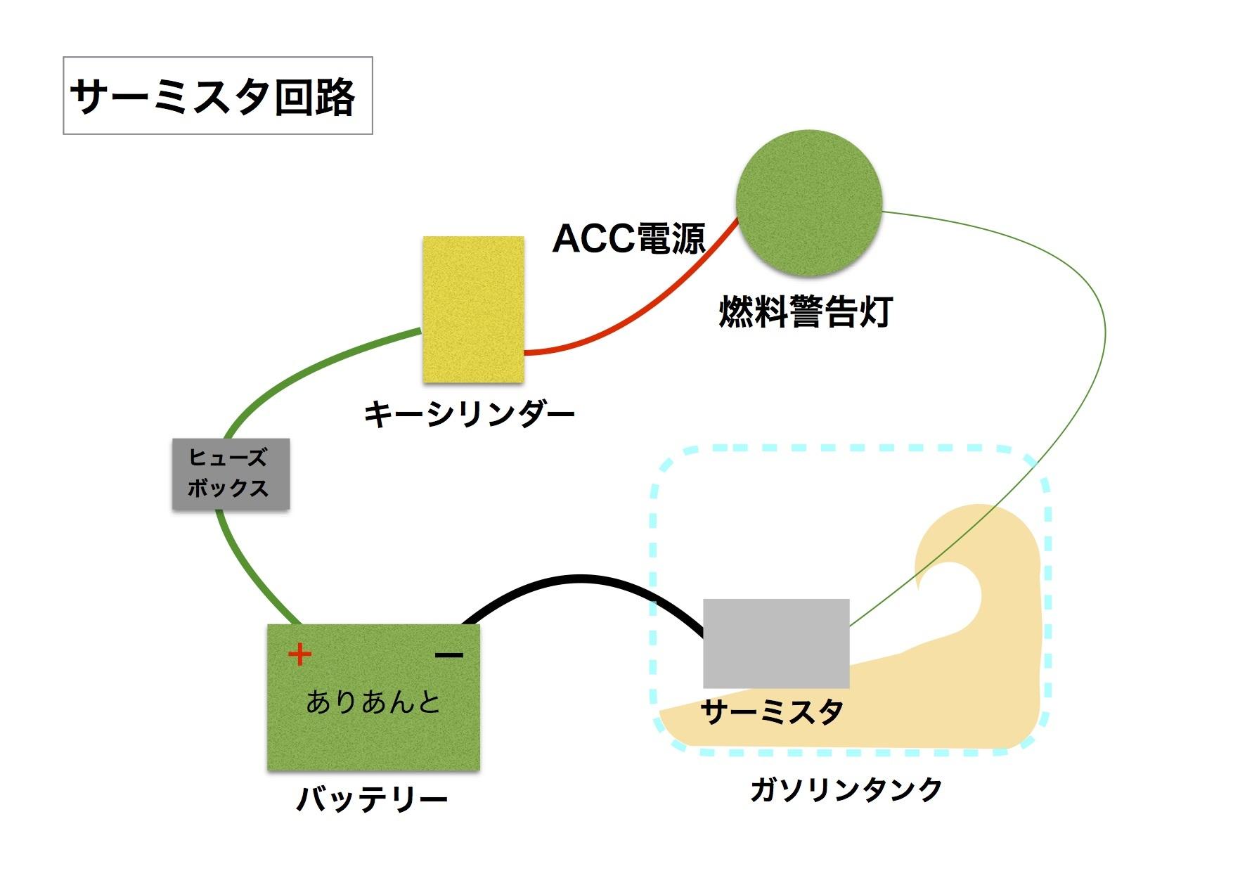 【DB7】サーミスタ回路 ACC電源がアレの件。原因はリレーか!?_e0159646_02250646.jpg