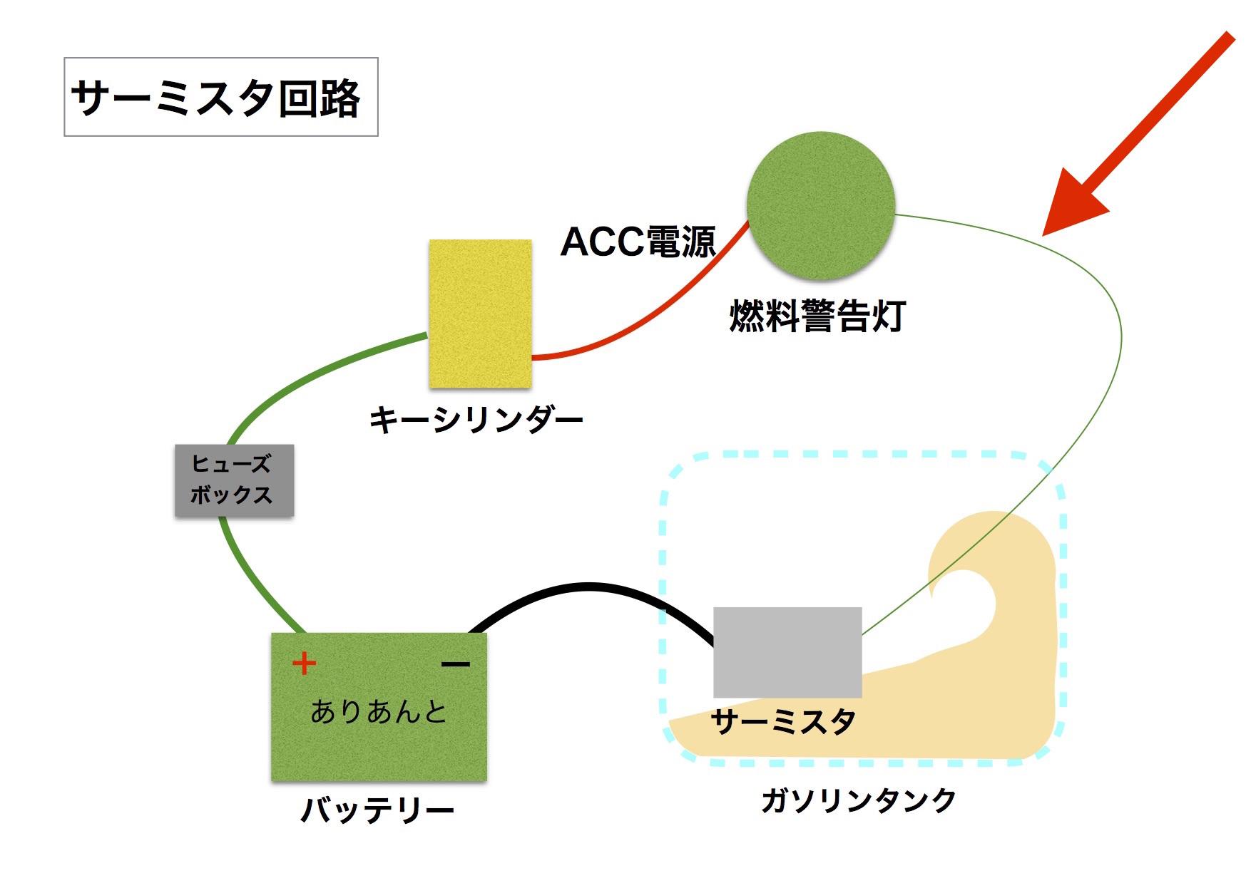 【DB7】サーミスタ回路 ACC電源が・・・_e0159646_02265426.jpg