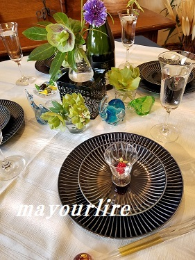 4月マユールライラ テーブルコーディネート&フラワー教室 テーブル編(2019)_d0169179_00070922.jpg