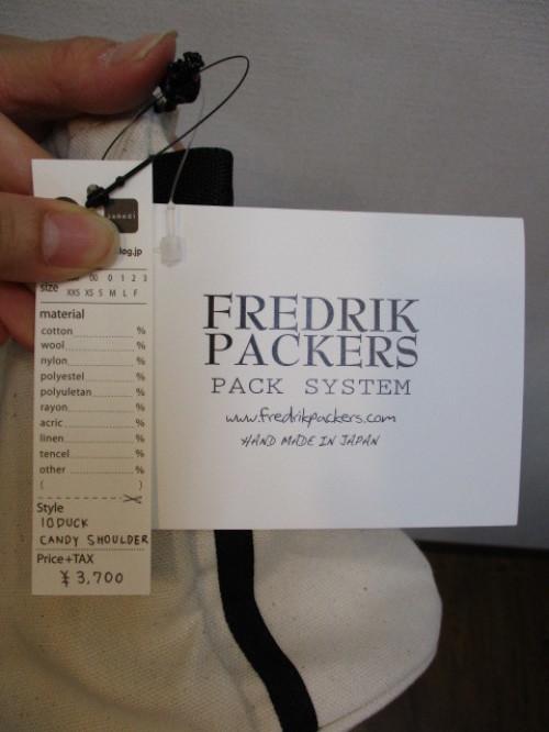 フレドリックパッカーズ  FREDRIK PACKERS  10DUCK CANDY SHOULDER_e0076692_17575462.jpg