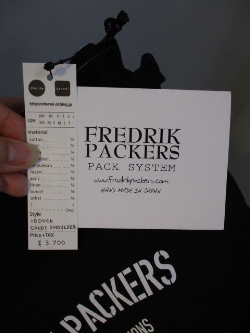 フレドリックパッカーズ  FREDRIK PACKERS  10DUCK CANDY SHOULDER_e0076692_18141407.jpg