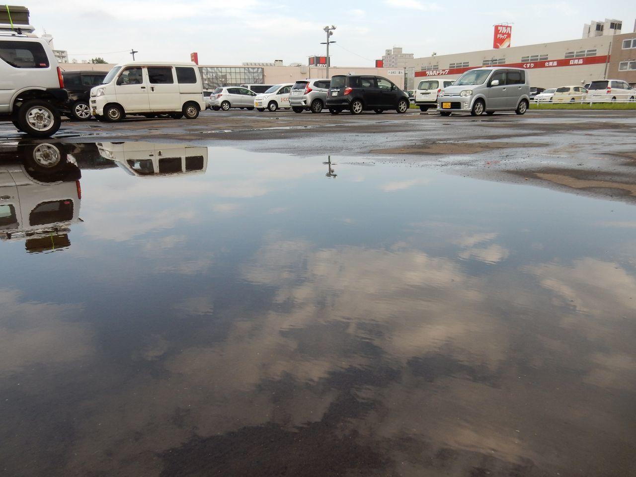 激しい雨が降るも自転車で濡れずに往復_c0025115_21511762.jpg