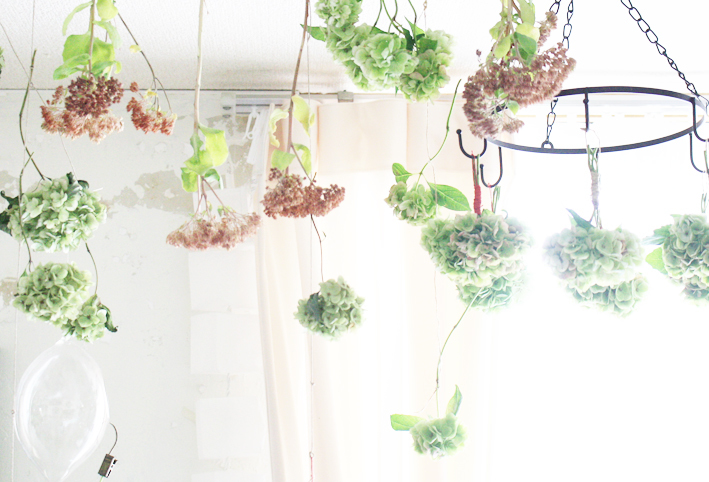 紫陽花のドライフラワーは手作りで♡_d0351435_06475259.jpg