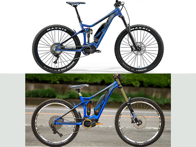 Here's a before and after of my MERIDA eONE-SIXTY_b0049658_10323389.jpg