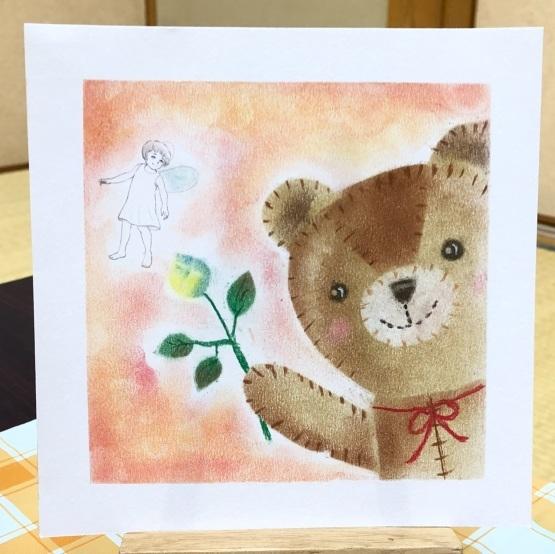 可愛いクマのぬいぐるみを描いてもらいました_d0377316_16505917.jpeg