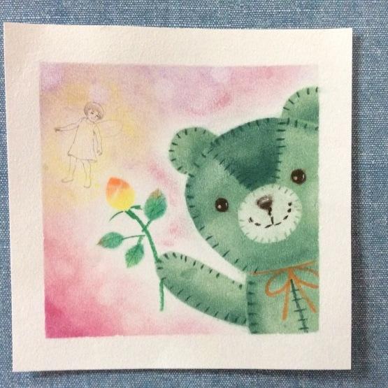 可愛いクマのぬいぐるみを描いてもらいました_d0377316_16551422.jpeg