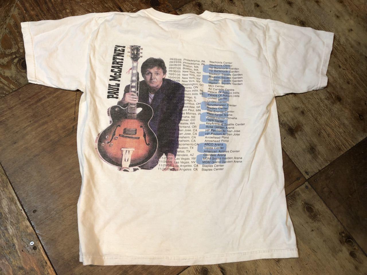 6月22日(土)入荷!05-06年 ポールマッカートニー ツアーTシャツ!_c0144020_14310713.jpg