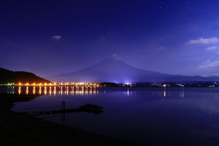 令和元年6月の富士(13)河口湖大橋の橋灯と富士_e0344396_18113425.jpg