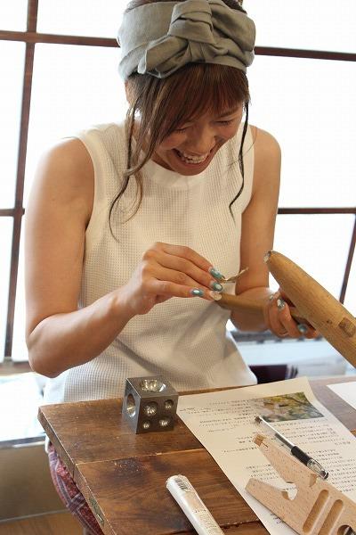 第19回 にのはこ時間 『天然石と真鍮を使ったアクセサリー作り』 23fumi_f0162302_11413613.jpg