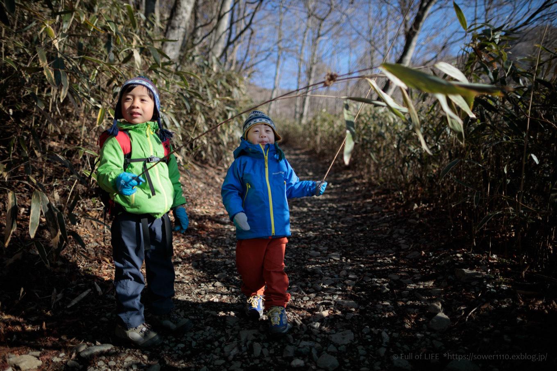 ちびっ子兄弟のチャレンジ春登山「石割山~平尾山」_c0369219_13125425.jpg