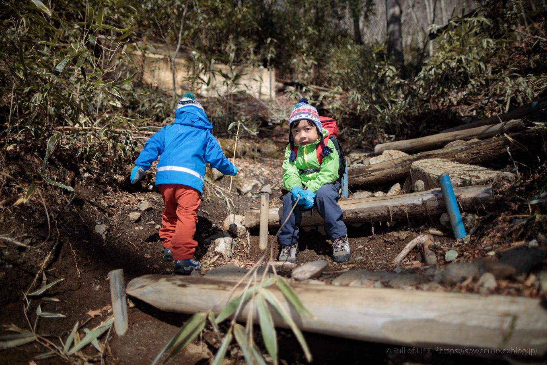ちびっ子兄弟のチャレンジ春登山「石割山~平尾山」_c0369219_13552988.jpg