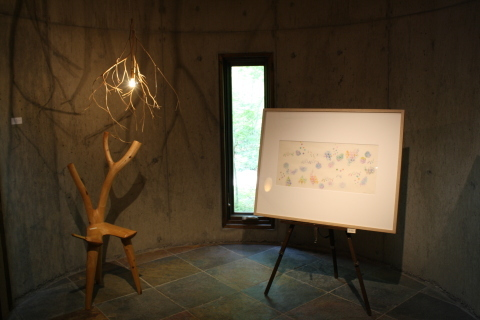 沙羅 木版画原画展 「森の中の扉」_a0260022_11222136.jpg