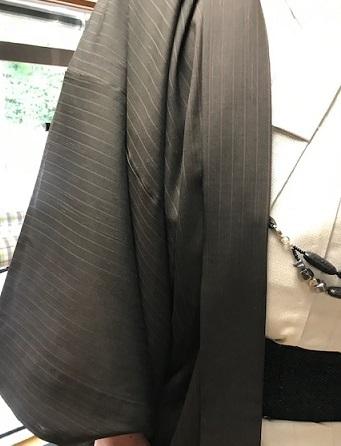 ご主人様は、塩澤単衣に銀河シルク帯、柿渋泥染羽織。_f0181251_11403619.jpg