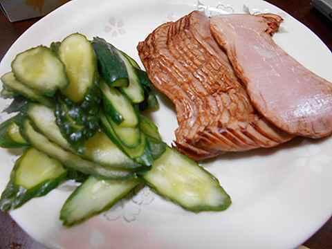 朝食 焼き豚サンドイッチ_f0019498_06525768.jpg