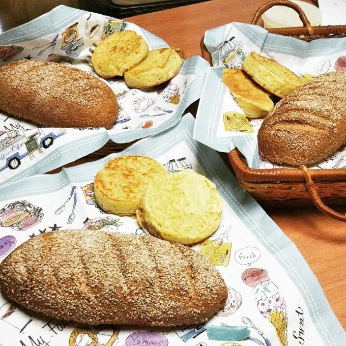 全粒粉だけのパンとクランペット_d0138307_15313800.jpg