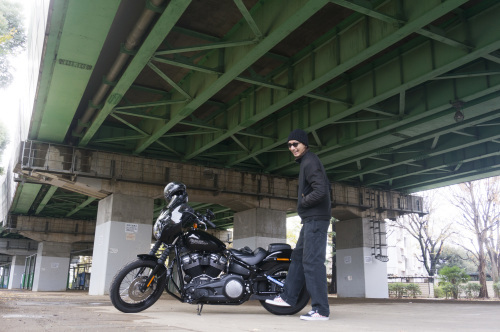 嶋田 昌弘 & Harley-Davidson FXBB STREET BOB(2018.12.12/TOKYO)_f0203027_14312414.jpg