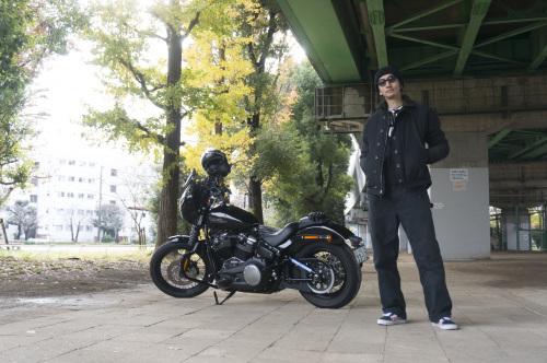 嶋田 昌弘 & Harley-Davidson FXBB STREET BOB(2018.12.12/TOKYO)_f0203027_14313444.jpg