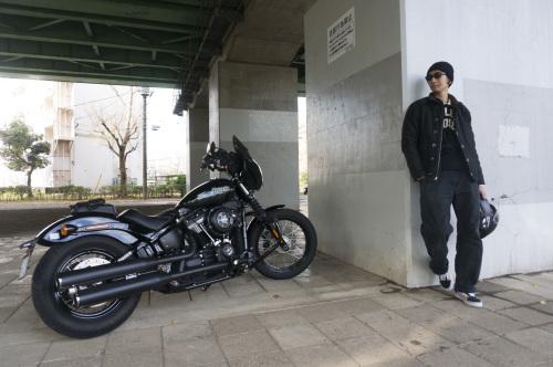 嶋田 昌弘 & Harley-Davidson FXBB STREET BOB(2018.12.12/TOKYO)_f0203027_14315249.jpg