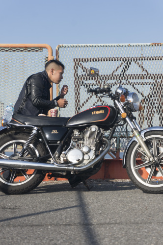 奥田 陸 & YAMAHA SR400SP(2018.12.01/ FUNABASHI)_f0203027_14394026.jpg