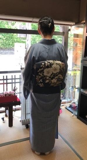 仙台のお客様・石下結城の単衣に夏染帯・キラキラ帯留入荷。_f0181251_16284356.jpg