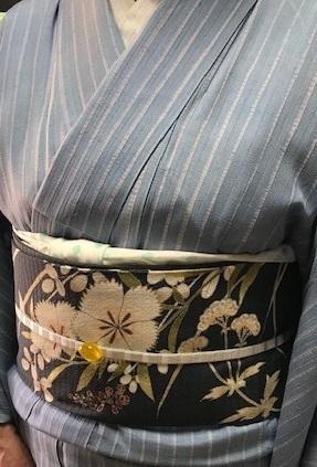 仙台のお客様・石下結城の単衣に夏染帯・キラキラ帯留入荷。_f0181251_16321033.jpg