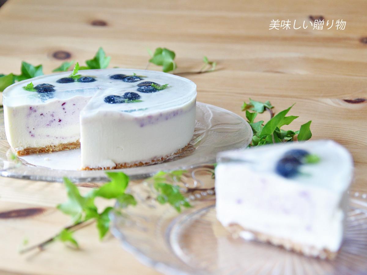 7月レッスン ~ブルーベリーのマーブルレアチーズケーキ~_a0216871_08015598.jpg