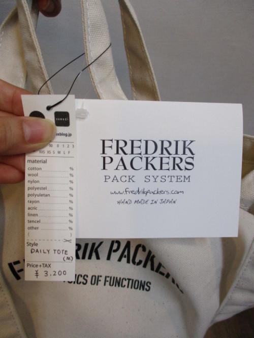 FREDRIK PACKERS フレドリックパッカーズ  DAILY TOTE(M)_e0076692_15443251.jpg