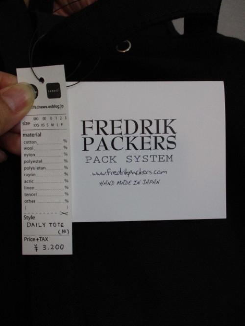 FREDRIK PACKERS フレドリックパッカーズ  DAILY TOTE(M)_e0076692_15445263.jpg