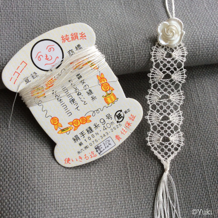 <追記あり>7月ブローチ&糸六さんの絹糸でボビンレース_f0108001_08104138.jpeg