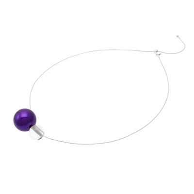 Jewel of Forest ~森の宝石~ 漆のアクセサリー ペンダント 漆の実×アクリル 本紫色 伝統工芸から生まれた、坂本これくしょんのプレミアムシリーズ 洗練されたデザインジュエリー Jewel of Forest URUSHI accessorie pendant Seed of URUSHI & acrylic True purple color 自然の中から編み出されてきた日本の伝統文化の中でも漆は森が生みだした宝物、アクリルの球体は独自の技法で中心より上部に穴を開け銀色粉を施し、魚眼レンズ効果で角度によりとても不思議なパワーを感じます。 #ペンダント #軽いペンダント #森の宝石 #ネックレス #デザインジュエリー #pendant #Necklace #designjewelry #TruePurpl #premiumseries #JewelOfForest #本紫 #プレミアムシリーズ #新感覚アクセサリー