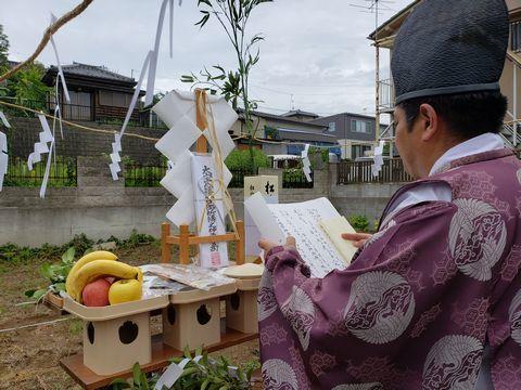 土浦市内で地鎮祭を執り行いました。_a0059217_11084209.jpg