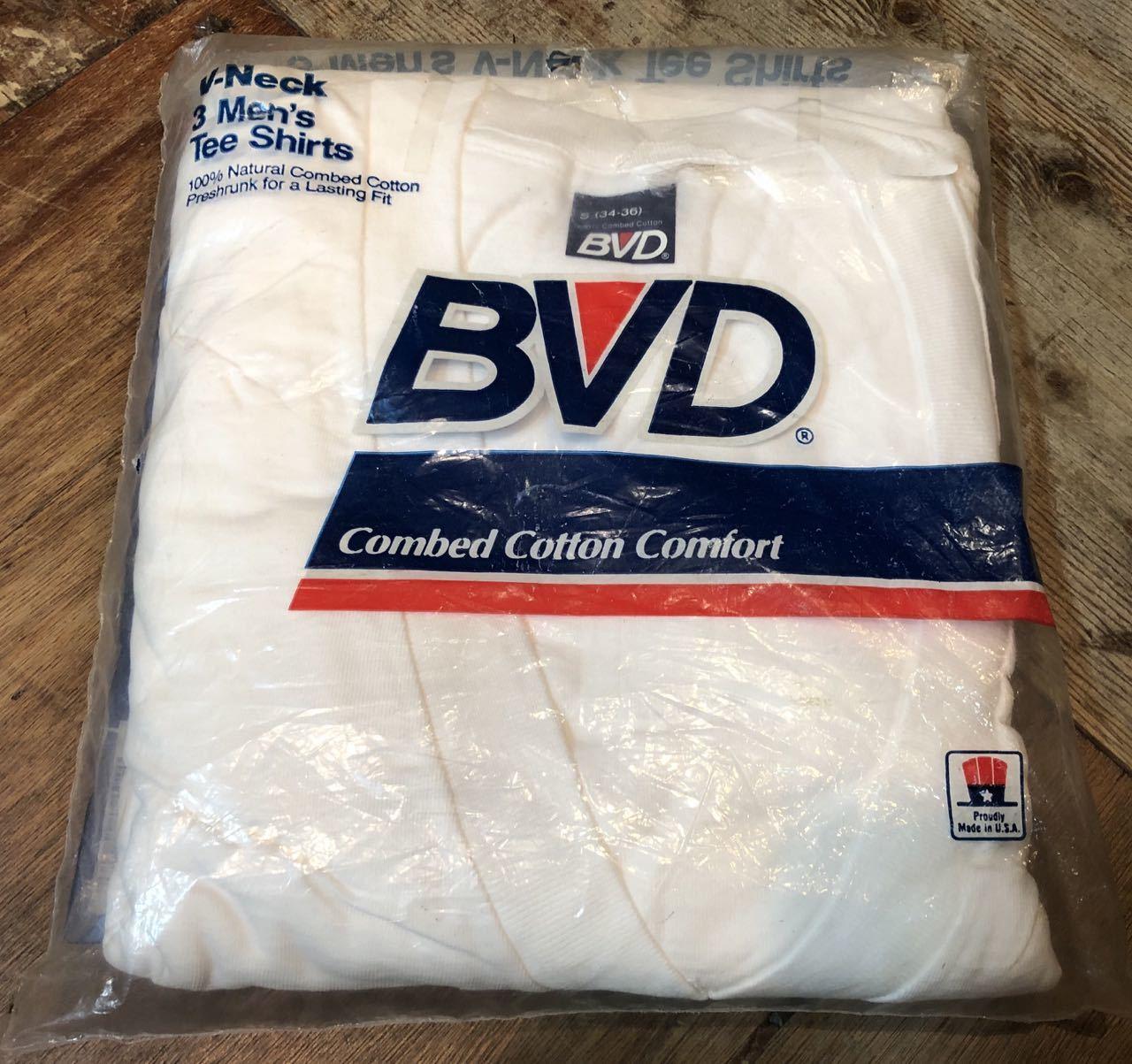 8月25日(火)入荷!MADE IN U.S.A  BVD Vネック 3枚パック Tシャツ!_c0144020_12572331.jpg