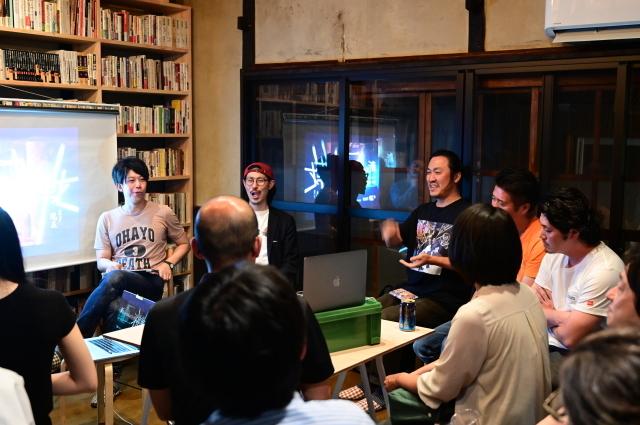 京都・大阪から3つのグループが集合「新アートコミュニティの挑戦」、スナック現美で!_b0165526_23573131.jpg
