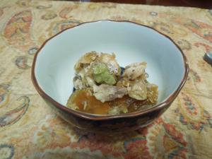 ブリアラ煮こごり、砂肝生姜煮、と夏初月♪_f0101128_11144979.jpg
