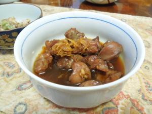 ブリアラ煮こごり、砂肝生姜煮、と夏初月♪_f0101128_11145758.jpg