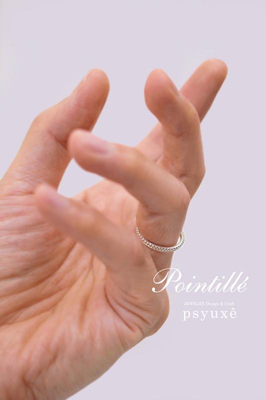 新作リング*《 Pointillé (ポワンティエ) Ⅱ 》_e0131432_21135577.jpg