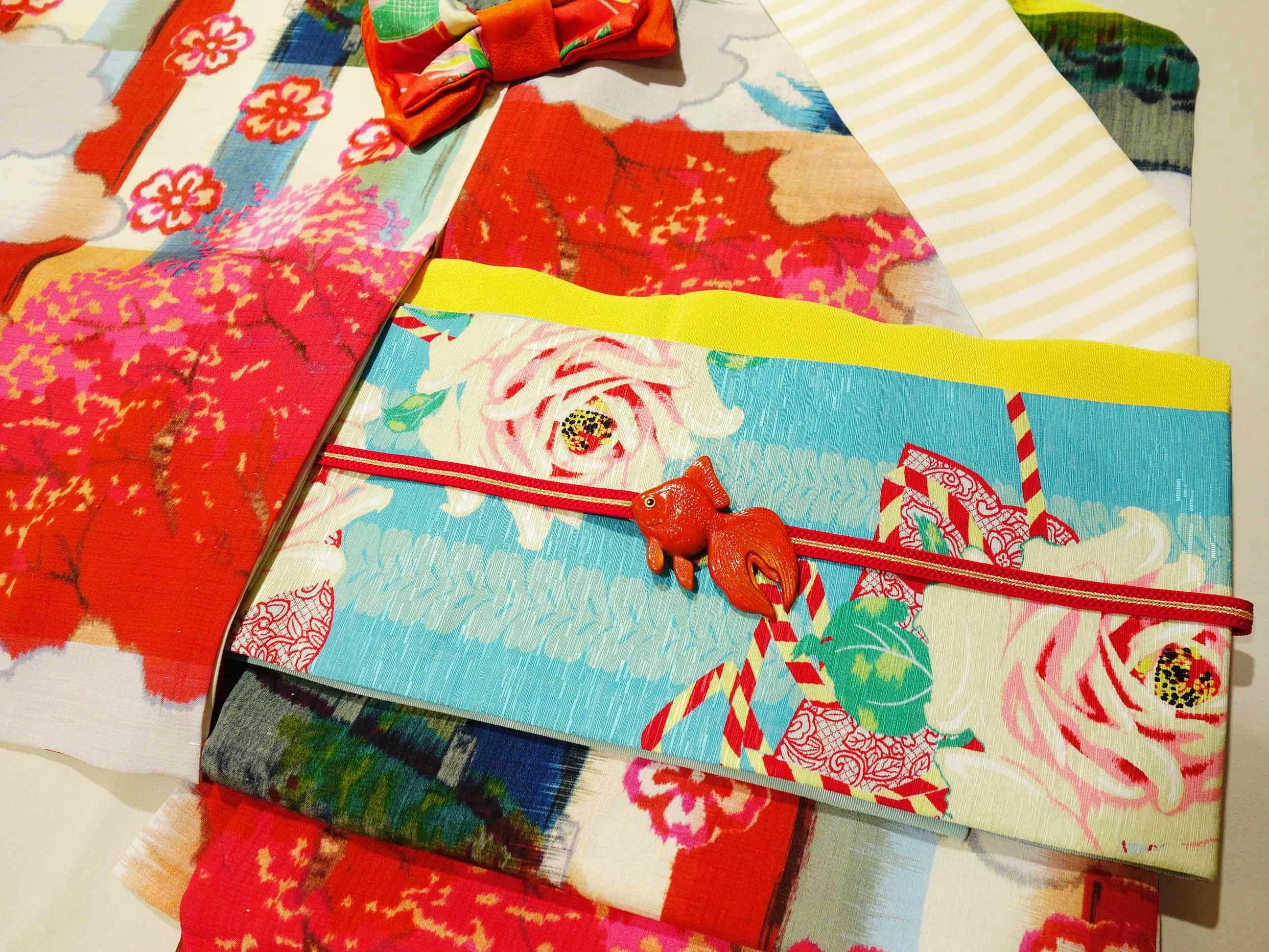 新作半巾帯「花宴」*オススメコーデ_e0167832_20144384.jpg