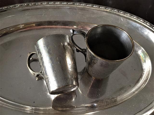 シルバープレートカップ71 トレイと受け皿付きセット_f0112550_05261578.jpg