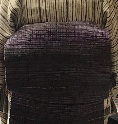 縞の単衣に百合の簪・燕の帯留のお客様・キラキラ帯留2_f0181251_18273211.jpg