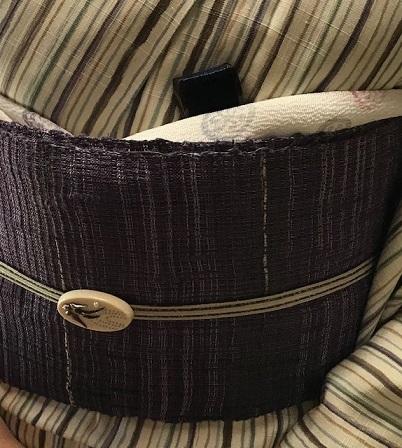 縞の単衣に百合の簪・燕の帯留のお客様・キラキラ帯留2_f0181251_18305427.jpg
