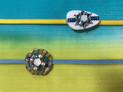 縞の単衣に百合の簪・燕の帯留のお客様・キラキラ帯留2_f0181251_18435272.jpg