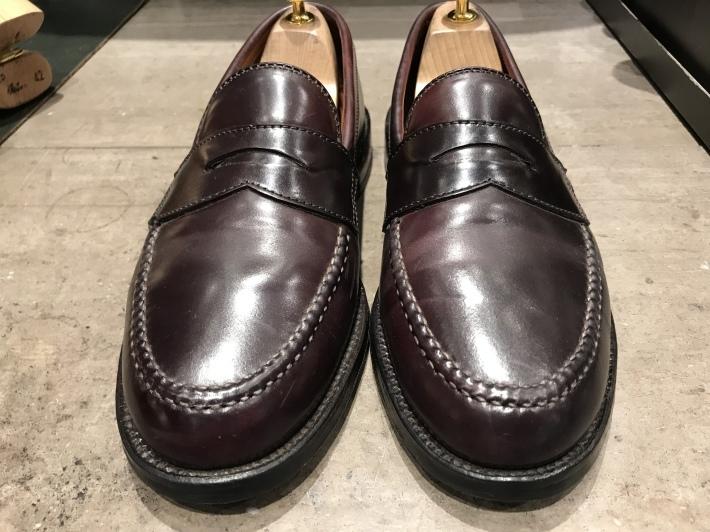 コードバンの履きジワ、どこまで潰すか問題 - シューケアマイスター靴磨き工房 銀座三越店