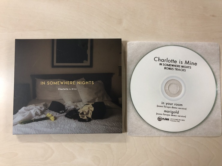 Charlotte is Mine / IN SOMEWHERE NIGHTS / CD(FLAKES-214) 2019.6.26 Release_a0087389_12190249.jpg