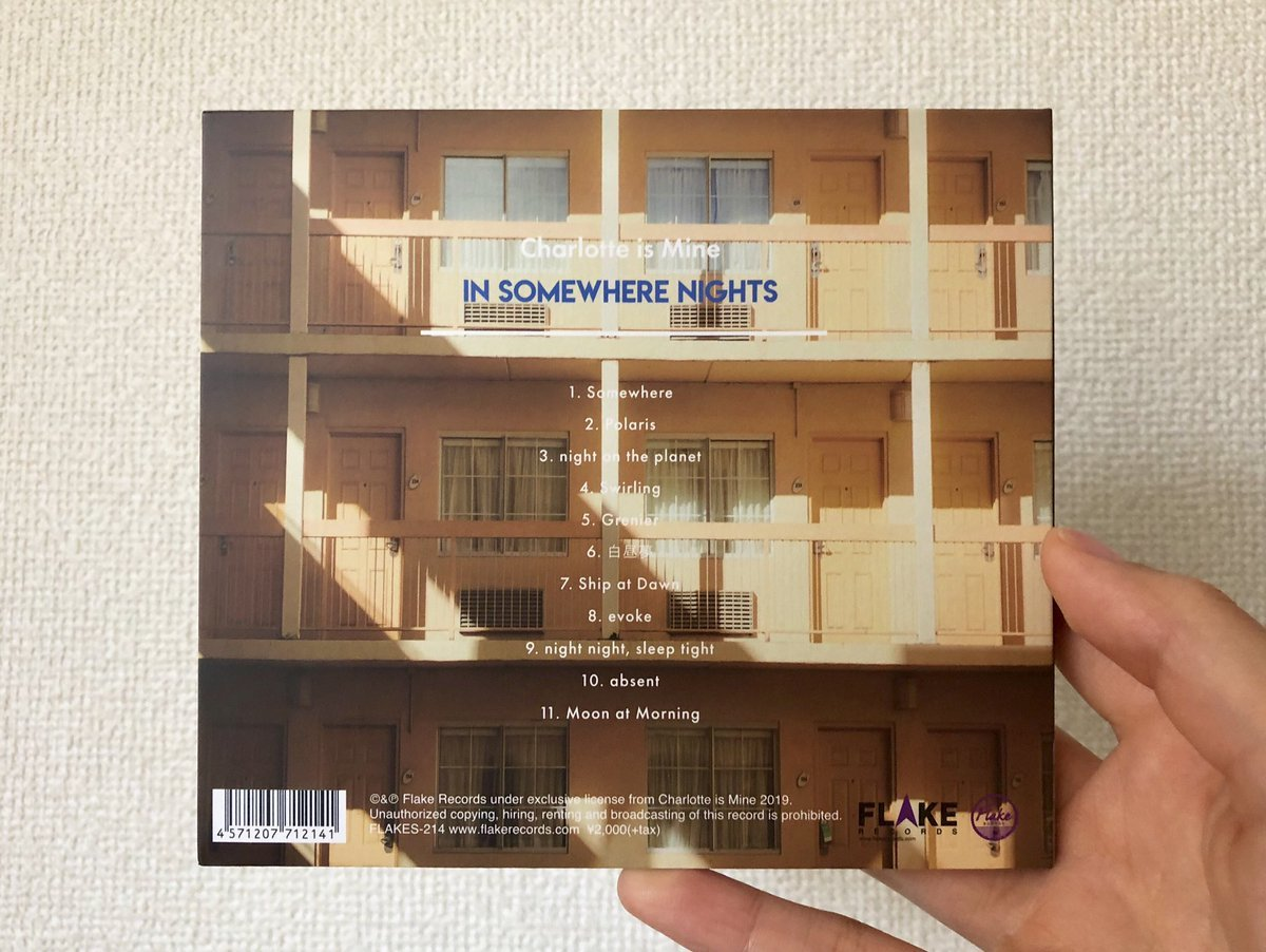 Charlotte is Mine / IN SOMEWHERE NIGHTS / CD(FLAKES-214) 2019.6.26 Release_a0087389_12190767.jpg