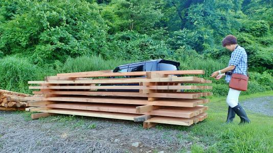 フットパスコースの木道工事が進んでいます_c0336902_21161794.jpg