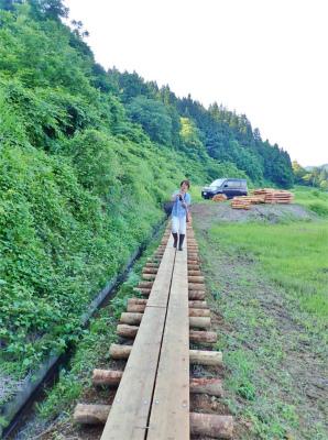 フットパスコースの木道工事が進んでいます_c0336902_21162057.jpg