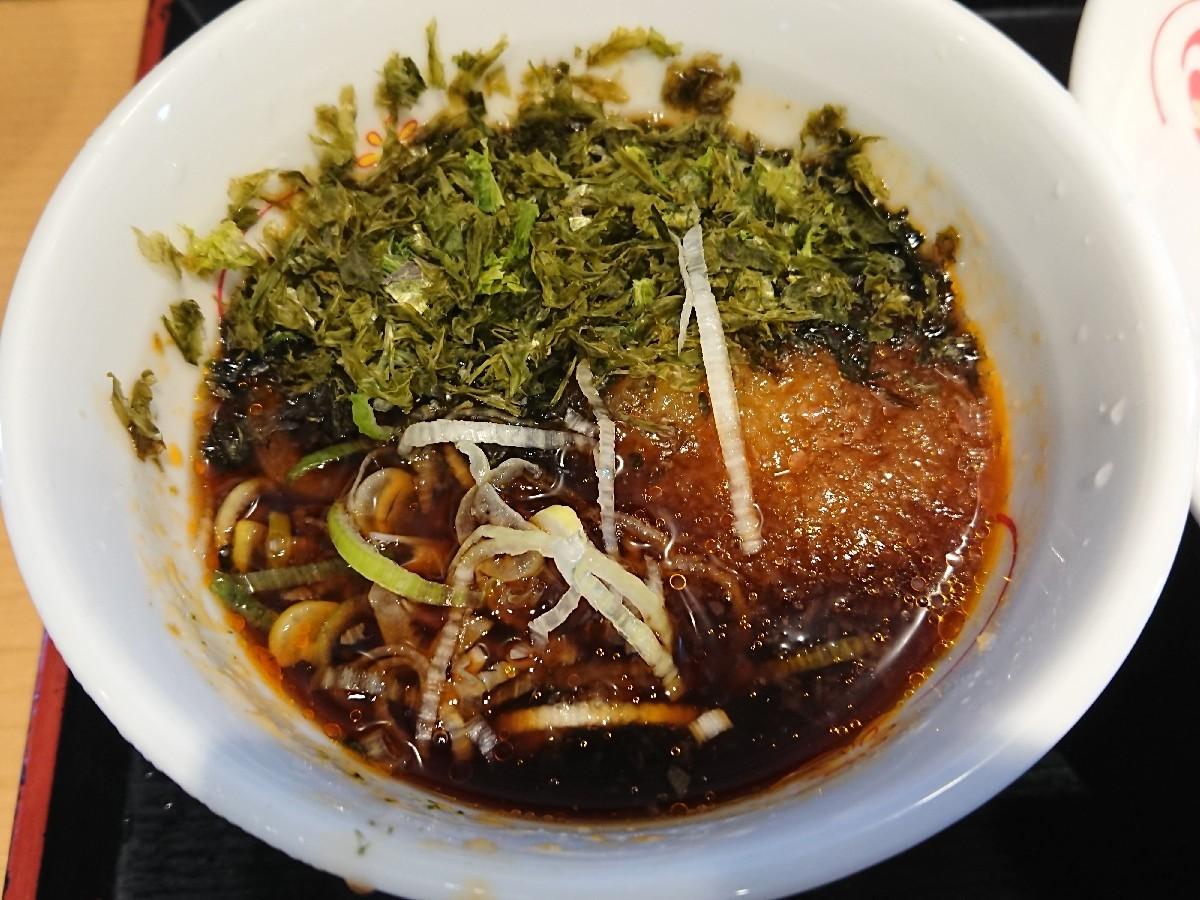 6/26  生蕎麦いろり庵きらく豊田店  海苔つけ蕎麦¥480_b0042308_15305378.jpg