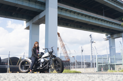 田村 千夏 & Harley-Davidson FXB(2018.10.14/KOBE)_f0203027_16245829.jpg
