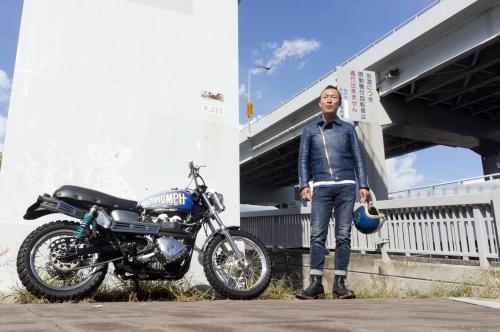 横川 祐造 & Triumph Bonneville T100(2018.10.14/KOBE)_f0203027_16513313.jpg